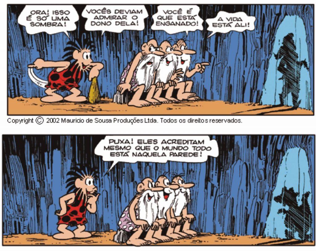 Mito da caverna - HQ Maurício de Souza - Imagem 4