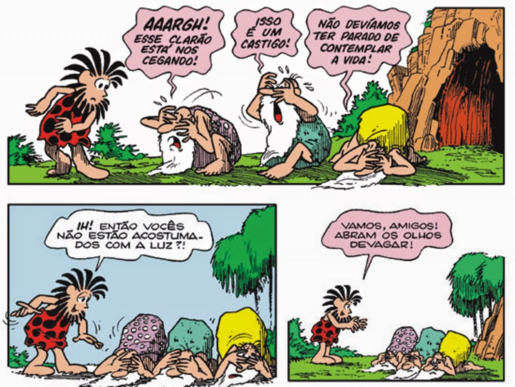 Mito da caverna - HQ Maurício de Souza - Imagem 7